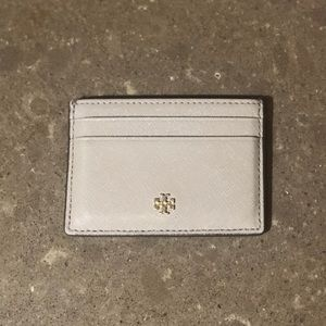 Tory Burch Robinson Grey Credit Card Wallet